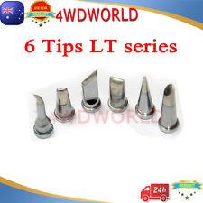 6PCs Soldering Station Iron Tips LT LeadFree FOR Weller WSP80 WSD80 WSD81 Solder