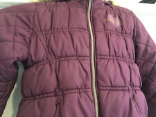 GORGEOUS DISNEY GIRL'S MAROON PUFFER COAT WITH FUR LINED HOOD - VGC 18/24 MTHS