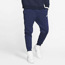Nike Men's NSW Sportswear Club Fleece Jogger Pants Navy/White BV2671-410 e