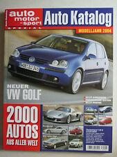 Auto Katalog Modelljahr 2004 Nr. 47 - Vereinigte Motor-Verlage GmbH, 310 Seiten