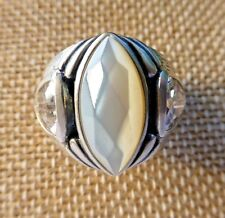 Silpada Stargazer Ring R2808 CZ Mother of Pearl 925 Sterling Size 7 New In Box