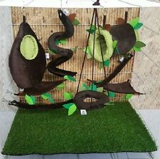 Hot Sale !! 7 Pcs Cute Sugar Glider Cage Set Forest Pattern ,Kullachy.shop