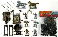 1/32 Crusader Knight Figures Plastic Toy Soldier Cannon Rack Horses #28 Playset