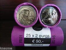"""France 2016 """" Mitterrand Mitterand """" 2 Euro commémorative - UNC - Lettre suivie"""
