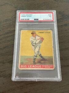 1933 Goudey Jimmy Foxx Rookie Card #29 PSA 1 Philadelphia Athletics HOF