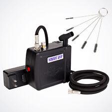 Mini Black Air Compressor w/ 6ft Hose, Airbrush Holder & 5pcs Cleaning Brush Set