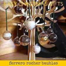 4cm (x50 qty) Clear Acrylic Two Piece Christmas Baubles - Ferrero Rocher