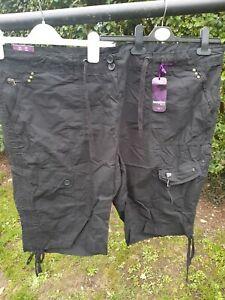 BNWT Newlook Black Cobat Shorts Goth Size 26