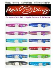"""Red Dingo Cat Breakaway Bell Collars -1/2 x 8-13"""" - PICK PATTERN/SOME REFLECTIVE"""