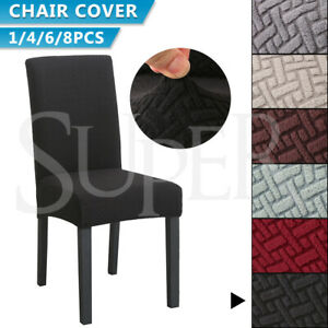 1/4/6/8 PCS Dining Chair Covers Spandex Slip Cover Stretch Wedding Banquet Party