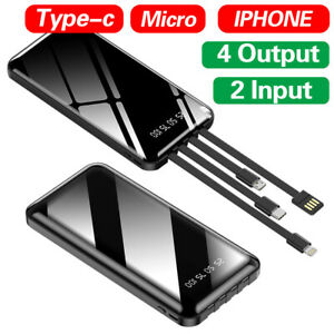 2021 New 500000mAh Power Bank USB Fast Charge Type C Lightning Large Capacity