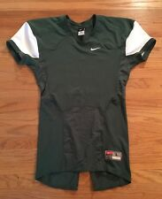 New Nike Men's L Pro Combat Speed Football Practice Jersey Green/White MSRP $70
