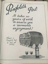 Original 1936 Penfolds Port Vintage Australian Print Advertising Free Post