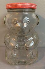 Vintage Kraft General Foods Inc Clear Glass Teddy Bear