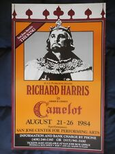 Richard Harris in CAMELOT theatre production poster