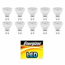 10 x Energizer Warm White GU10 50w LED Energy Saver Dimmable Spot Light Bulb A+
