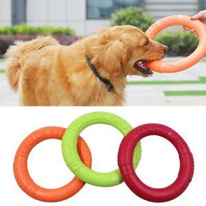 Pet Flying Discs EVA Dog Training Ring Puller Resistant Bite Floating Toy