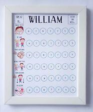 Reward chart, magnets, kids, Autism, SEN, PECS, toddler, Pre-Shool, Routine