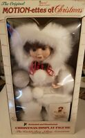 Vintage Telco Motion-ettes of Christmas Animated Doll Light Up Snowball WORKING