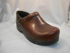 Dansko Red Burgundy Leather Clogs Shoes Women's Sz 38 EU 7.5 - 8 US