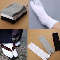 JF_ BL_ 1 Pair Japanese Kimono Flip Flop Sandal Split Toe Tabi Ninja Geta Sock
