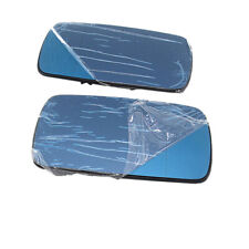 Fit BMW 3 Series E36 E46 5 Series E34 E39 Mirror Glass With Heating Blue LH + RH
