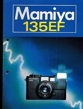 MAMIYA 135 EF SYSTEM CATALOG/BROCHURE (ORIGINAL PRINT JAPAN/not copies)