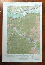 1940 Montesano Washington Vintage Army CoE Topo Map Brooklyn Central Park