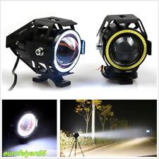 2 Pcs Super Bright CREE U7 LED Motorcycles Headlights DRL Spot Lights Angle Eyes