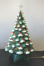 VINTAGE CERAMIC MUSICAL CHRISTMAS TREE LIGHTS UP TO COLORFUL LITES