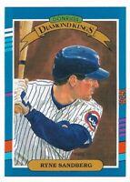 RYNE SANDBERG ~ 1991 Donruss 3 Card Lot ~ Diamond Kings #14 ~ Cubs HOF