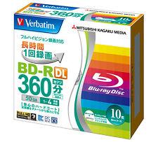 10 Verbatim Bluray 50gb Bluray HD DVD Blu ray Disk 4x Speed Inkjet Printable