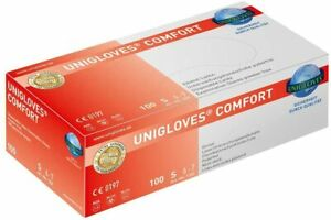 LATEX HANDSCHUHE Unigloves Comfort  X-SMALL ---- (XS) 100xSt