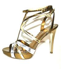 ELEGANT New Ivanka Trump Women's Shoes Sandals Gold  Genuine Leather Size 10 M