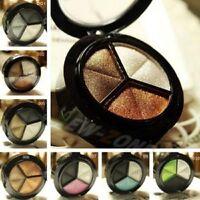 3 Farben Lidschatten-Natur Smoky Cosmetic Lidschatten-Palette Set Make Up Pro