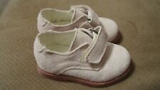 EUC Toddler Boys size 5 BEIGE suede dress shoes Kitestrings Hartstrings