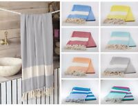 New Turkish Cotton Hammam Peshtemal Bath Towel Spa Gym Yoga Beach Many Colours