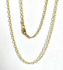 "9ct Yellow Gold Fancy Link Chain 20"" Necklace Diamond cut"