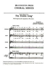 The Riddle Song Vocal Choral Learn to Sing Soprano Alto Bass Play Music Book