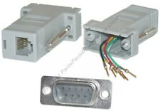 Lot200 DB9pin Male~RJ12/RJ11 Jack Modular Adapter 6P6C 6wire Aux/Phone/Telephone