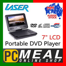 "LASER 7"" LCD WideScreen Portable DVD Player USB 180 Swivel Monitor Rechargeable"