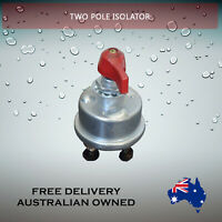 2 Pole Battery Isolator Disconnect Two Pole 12 24V mine compliant IP67Speedway