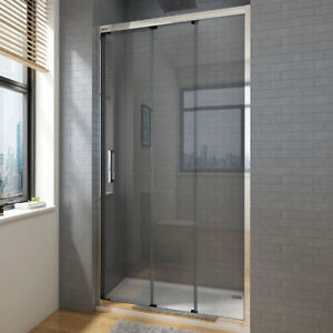 Sliding Shower Screen Wall to Wall Large Entry 3 Panel Shower Door Enclosure