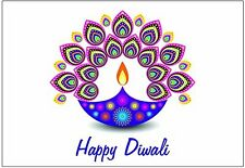 Diwali Holiday Greeting Cards (Diwali Light Design 10 pack) USA FAST SHIPPING