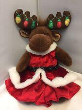 BUILD A BEAR CHRISTMAS LIGHTS MOOSE REINDEER HAL DRESS GOWN SKIRT TOP CAPE LOT