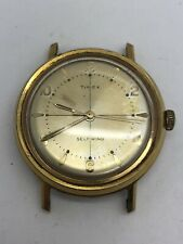 Vintage Timex Watch Self Winding Gold Tone 1960's Lume Dial / Hands