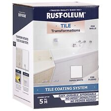 Rust-Oleum TILE TRANSFORMATIONS COATING SYSTEM For Walls Covers 5Sqm,Aspen White
