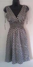 Speechless sleeveless silky dress size 3, black white polka dot v-neck -258