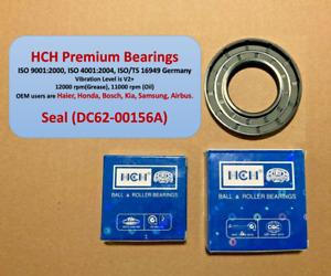 Samsung Washer Seal Bearing Kit DC62-00156A w/ HCH Premium Bearings WF42H5200**