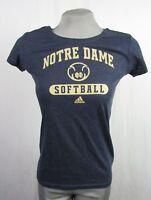 Notre Dame Women's M NCAA Grey Adidas Softball T-Shirt NCAA